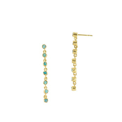 Souffle Duster Earrings in Chrysocolla and Gold