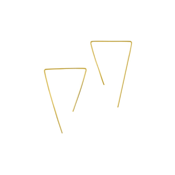 Open Triangle Sliders in Gold  - 2""