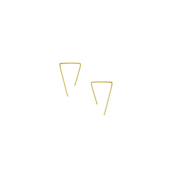 Open Triangle Sliders in Gold - 1""