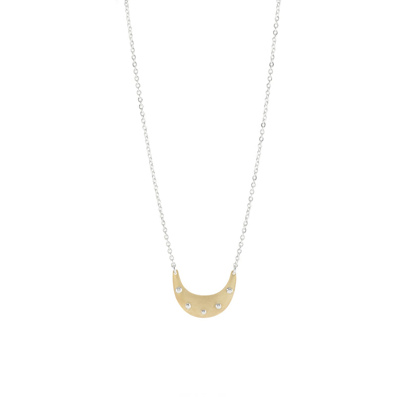 Riveted Crescent Necklace