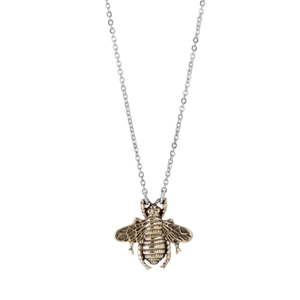 Bronze Bee Necklace
