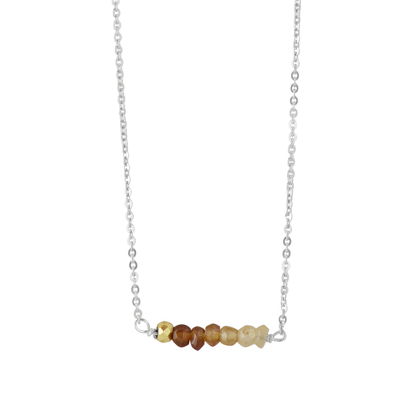 Stone Stack Necklace in Hessonite