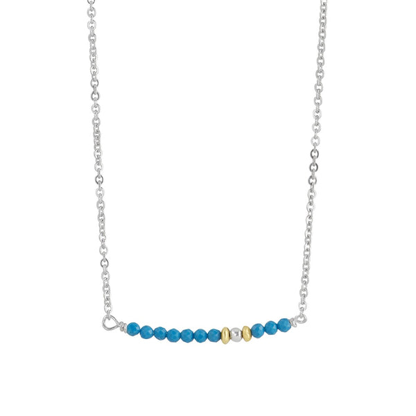 Petite Stone Stack Necklace in Turquoise