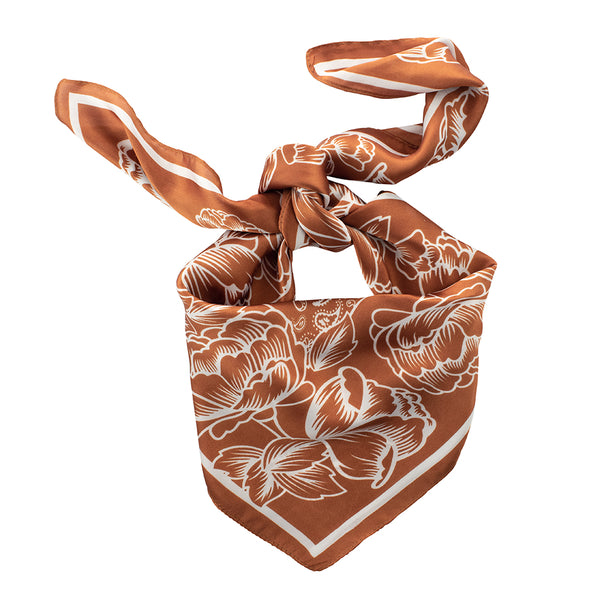 Floral Paisley Bandanna in Bronze | Will Ship 4/3