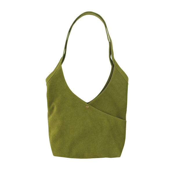 Super Soft Suede Bag in Green