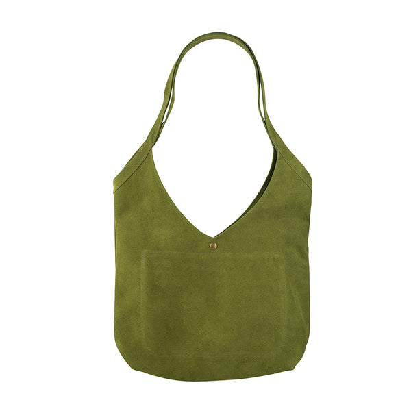 Green with Envy Suede Bag