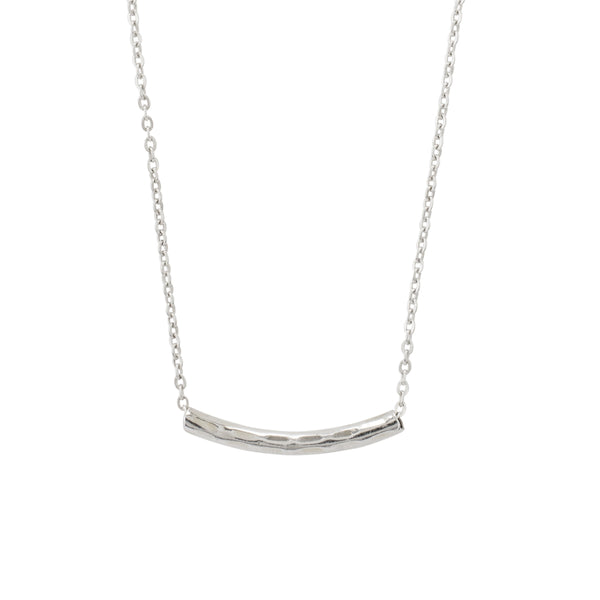 Sterling Tunnel Necklace