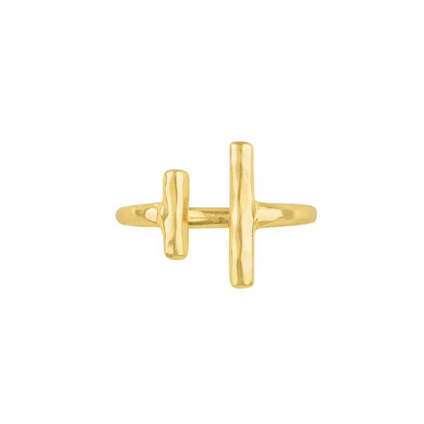 Balancing Act Ring in Gold