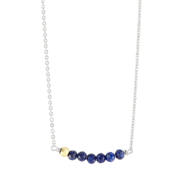 Stone Stack Necklace in Lapis
