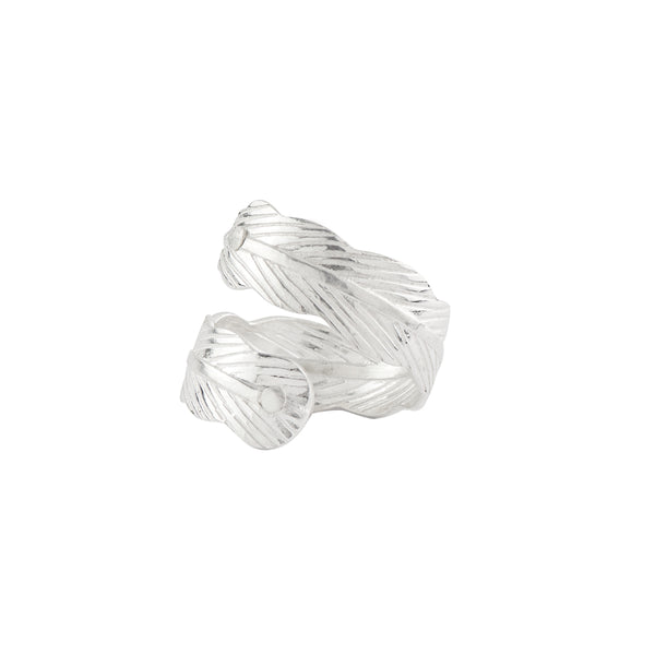 Feather Wrap Ring in Silver