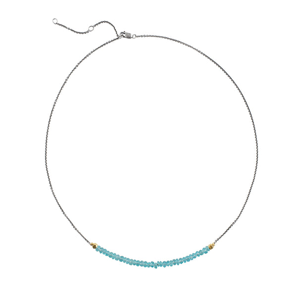 Clear Skies Blue Apatite Necklace