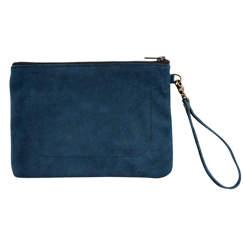 Indispensable Leather Go-Bag in True Blue