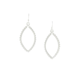 Medina Ellipse Earrings in Silver
