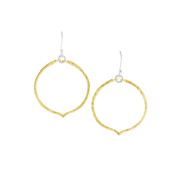 Thoughtful Hanging Hoops in Two-Tone