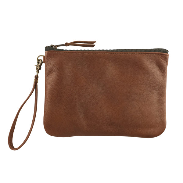 Leather Go-Bag in Cognac