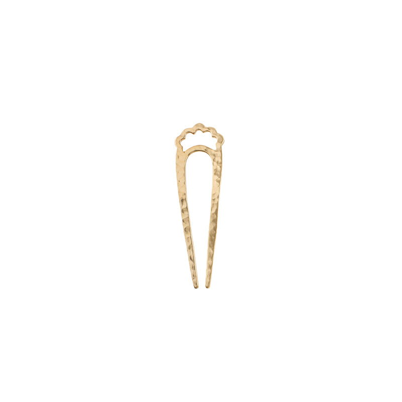 Small Open Fado Hair Pin in Bronze