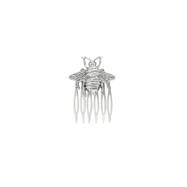 Bee Hair Comb in Silver