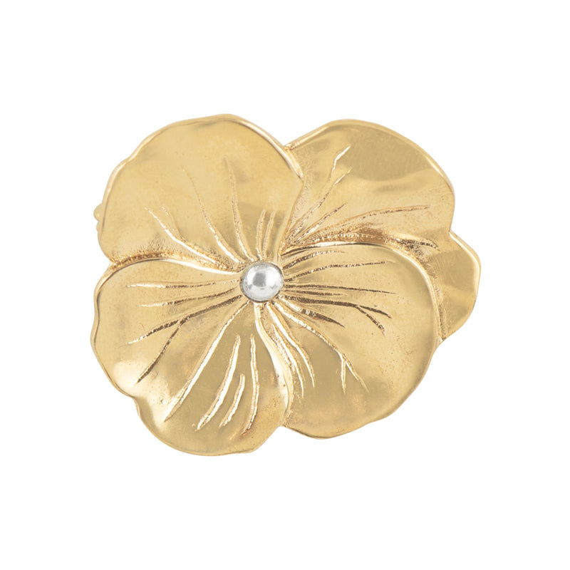 Bronze Pansy Pin