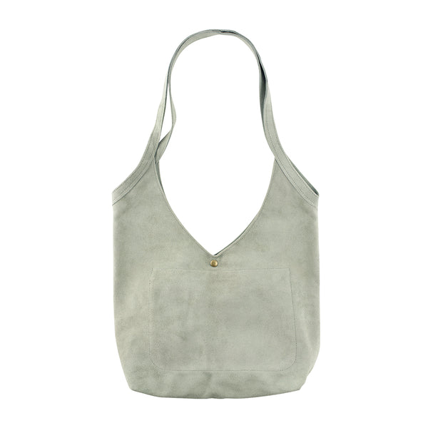 Super Soft Suede Bag in Sage Green