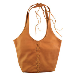 Laced Butter Bag in British Tan
