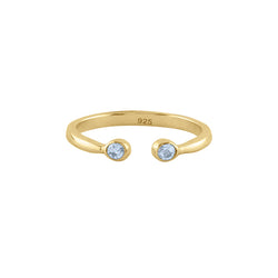 Souffle Stone Stacker Ring in Topaz and Gold