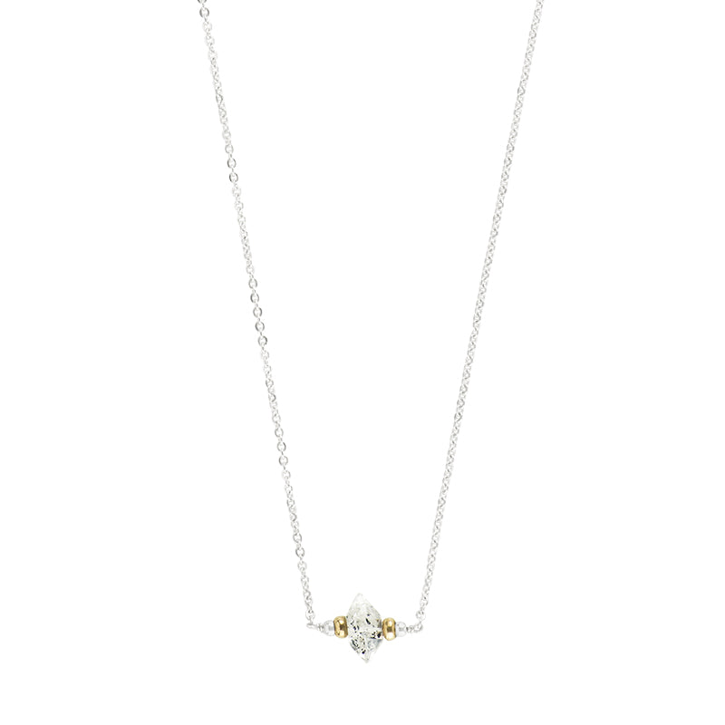 Herkimer Solitaire Necklace