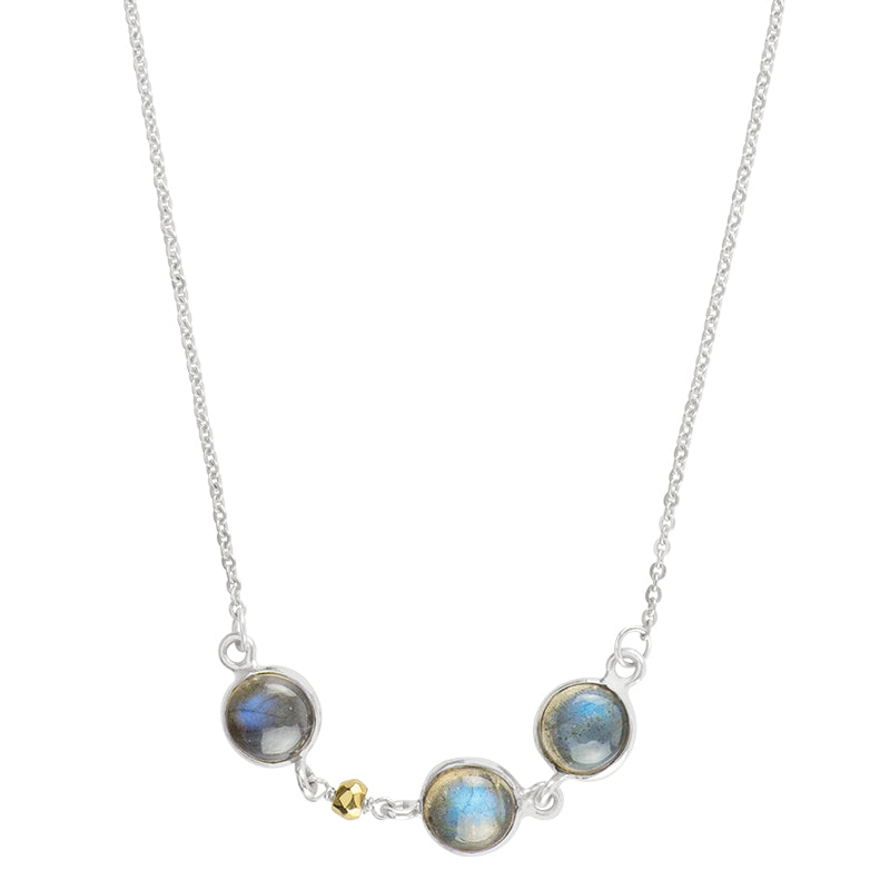 Jupiter Moons Necklace in Labradorite