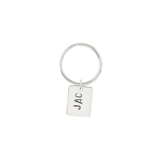 Monogrammed Sterling Key Chain