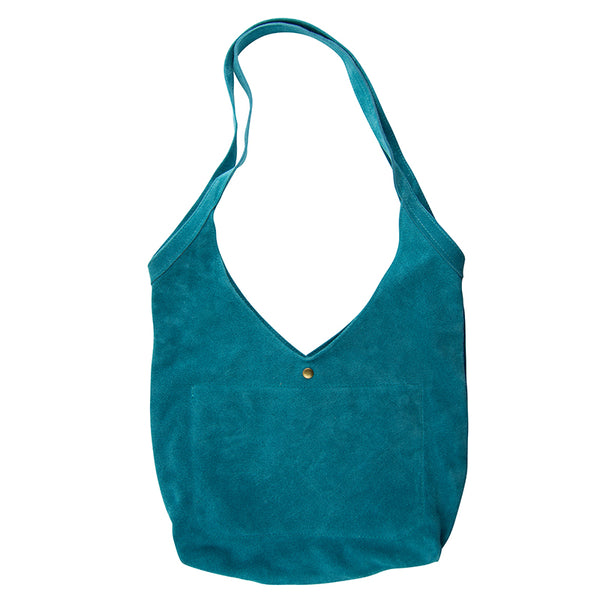 Super Soft Suede Bag in Turquoise