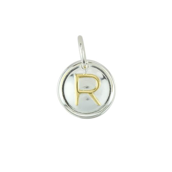 Two Tone Letter Charm