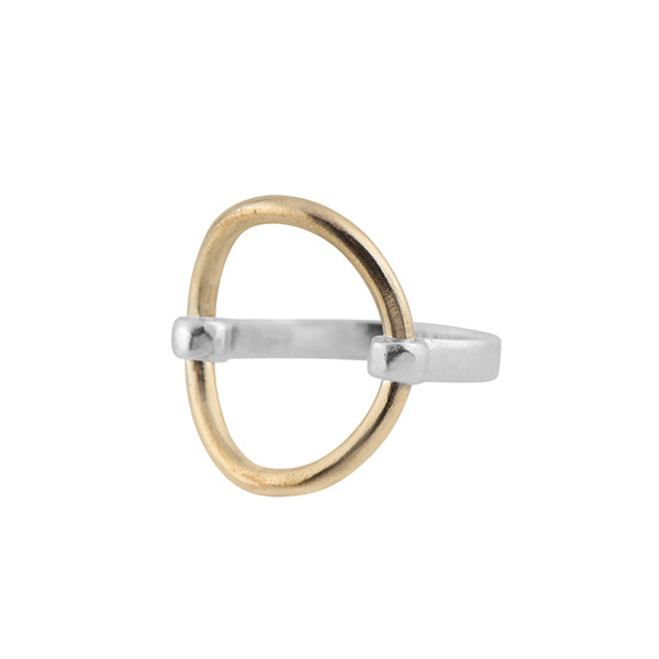 Bronze Open Circle Ring
