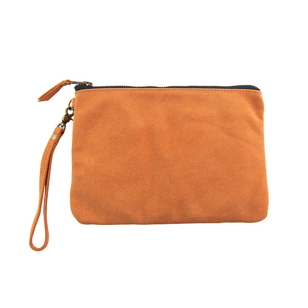 Leather Go-Bag in Peach
