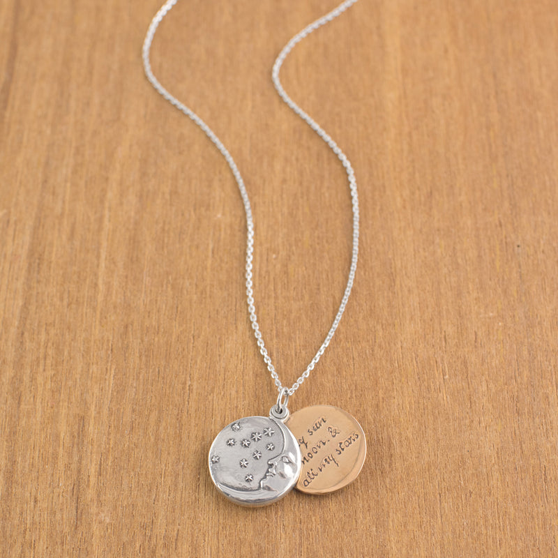 My Moon & Stars Locket Necklace