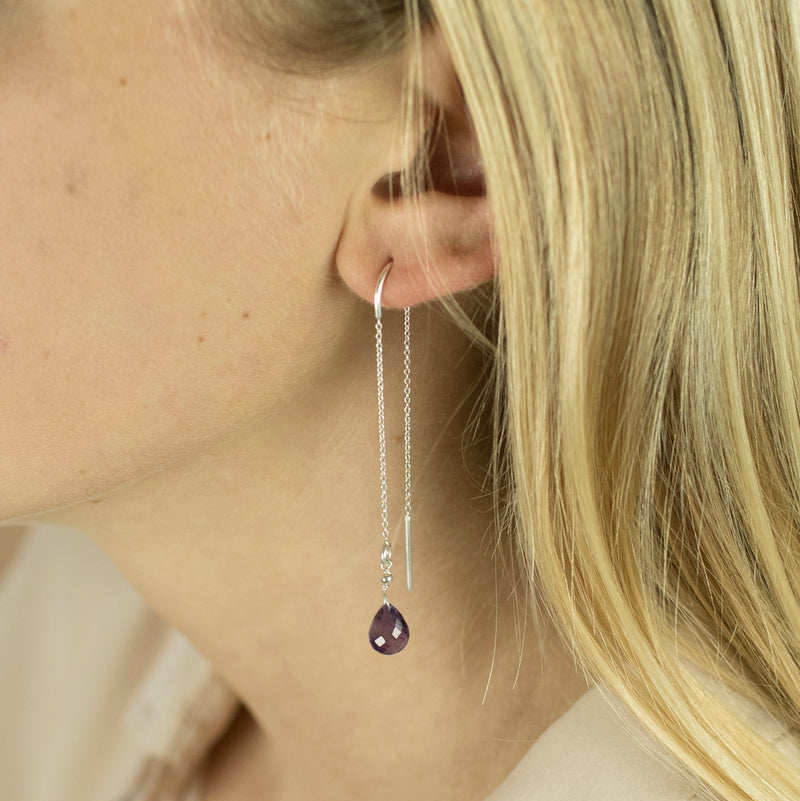Meteor Threaders in Amethyst and Silver