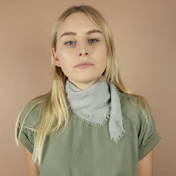 Cloud Bandanna Scarf in Pale Sage