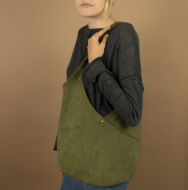 Super Soft Suede Bag in Moss