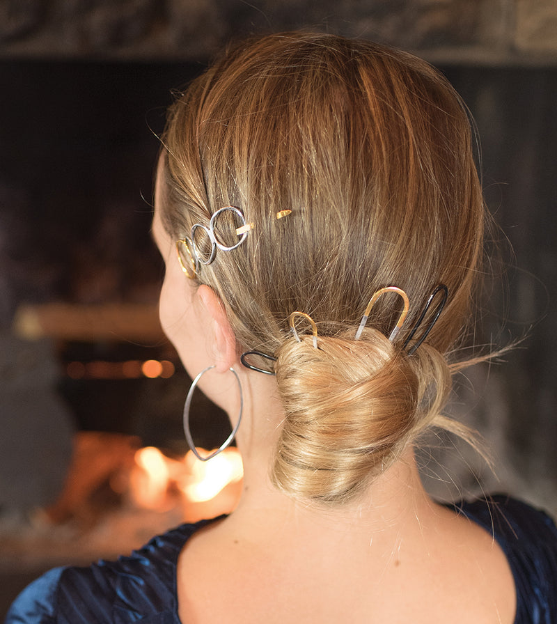 Effortless Hair Pin - Large in Silver