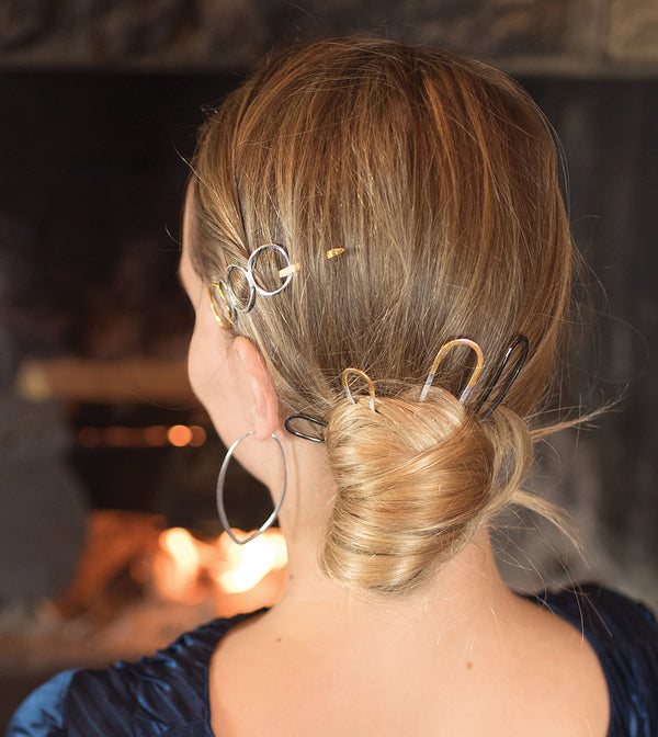 Effortless Hair Pin - Small in Gold