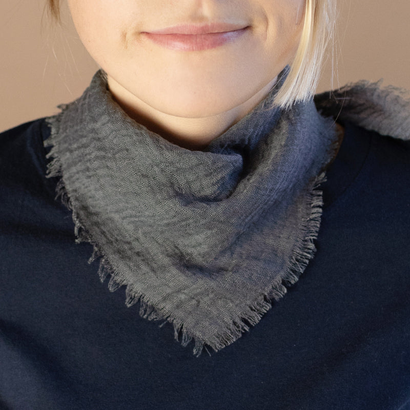 Cloud Bandanna Scarf in Charcoal