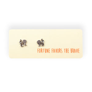 Fortune Favors The Brave Post Earrings