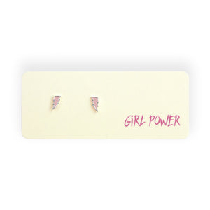 Girl Power Post Earrings
