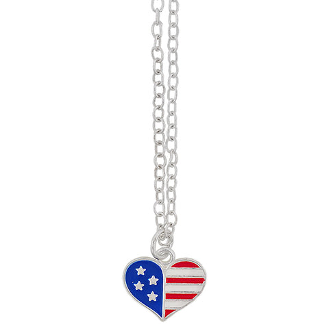 Star Spangled Heart Necklace