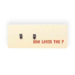 Hoo Loves You? Post Earrings