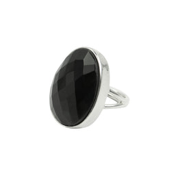 Strength Ring - Warrior in Black Onyx