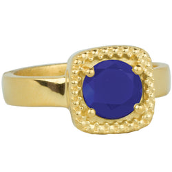 Let it Glow Ring in Gold and Blue Chalcedony