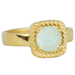 Let it Glow Ring in Gold and Moonstone