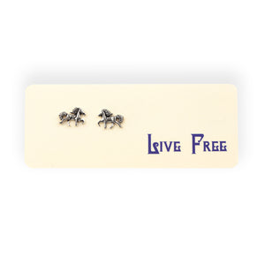 Live Free Post Earrings on Gift Card