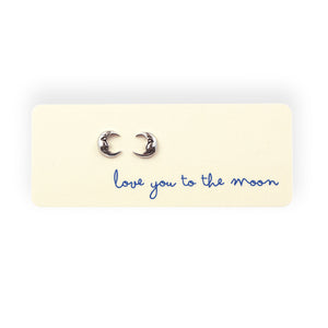 Love You To The Moon Post Earrings