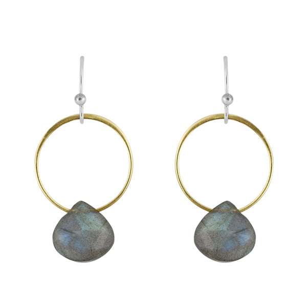 Rhea Earrings In Labradorite