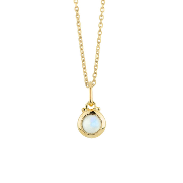 October Birthstone Charm Necklace in Gold